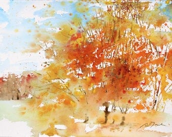New England No.235, original watercolor