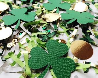 St Patricks Day, Table Decor, Shamrock, Die Cut Confetti, St Patty's Day, Decorations, Clovers, Party Decor, Confetti, Irish Party
