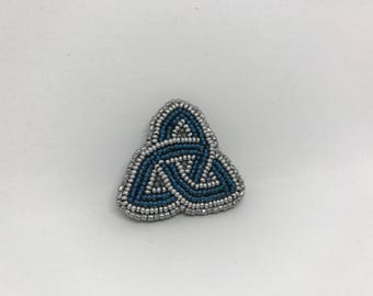 Teal Celtic Knot Pin