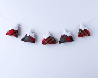 Mountain Garland // decorative garland, winter decor, fall decor, nature lover, nursery garland, mountain lover, mantle decorations