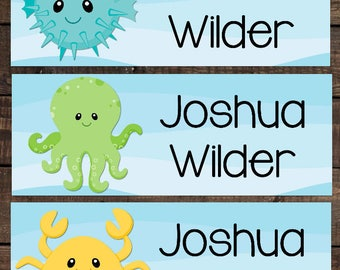 Waterproof Labels, Waterproof Stickers, Name Labels, Dishwasher Safe Daycare Label, School Label, Boy School Labels, Kindergarten Labels