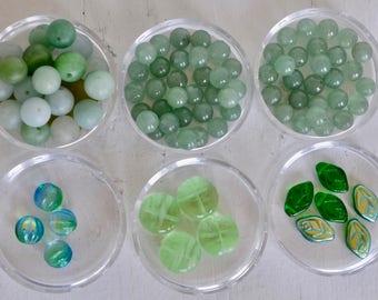GREEN Bead Mix - DESTASH