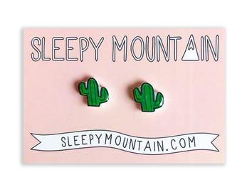 Cactus Earrings - Nickel Free Stud Earrings