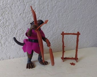 TMNT Character, Splinter Action Figure with Weapons, 1988.