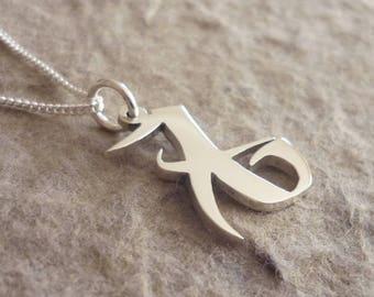Sterling Silver Love Rune Pendant