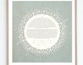 Flourishes Papercut Ketubah / Modern and Interfaith Ketubahs/ Custom and Personalized Fine Art Ketubah