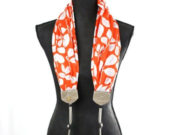 scarf camera strap sweet clementine - BCSCS093