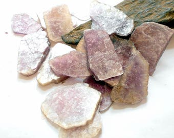 Lepidolite Mica Slabs 1-2 Inch earthegy #3003