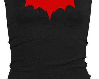 Franken Bat Black Cami Tank Top Shirt