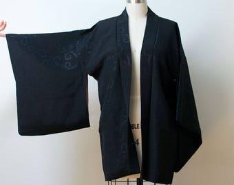 Vintage  Haori Kimono / Black Kimono