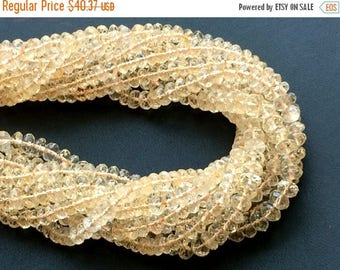 ON SALE 55% Citrine Beads, Natural Citrine Faceted Rondelles, Citrine Necklace, 5mm, 13 Inch - GSA52