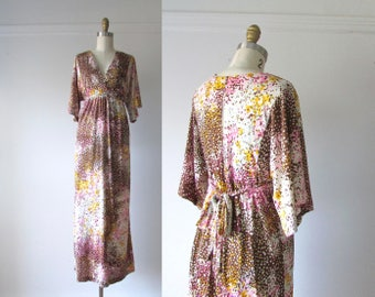 Love Train / vintage 70s dress / 1970s maxi dress