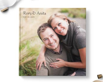 Wedding Guest Book With Photos, Wedding Sign In Book Ideas, Photo Guest Book - Happiness
