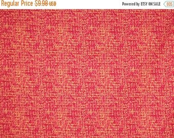ON SALE Scarlet Ultra Weave Tweed Print Pure Cotton Fabric--By the Yard