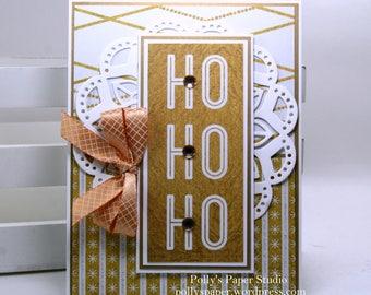 Ho Ho Ho Christmas Greeting Card Polly's Paper Studio Handmade