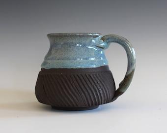 Ceramic Mug, 12 oz, handmade ceramic cup, handthrown mug, ceramic stoneware, pottery mug, unique coffee mug, ceramics and pottery