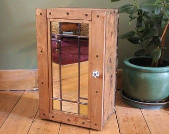 Floor Cabinet Made With 1939 Vintage Trunk - Upcycled