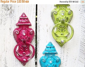 ON SALE Cast Iron Door Knocker~ French Country Door Knocker~Decorative Iron Door Knocker~Bold Color~Old World~Antique Home