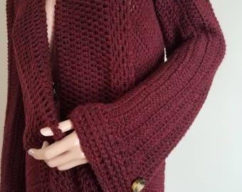 Unique crochet jacket.