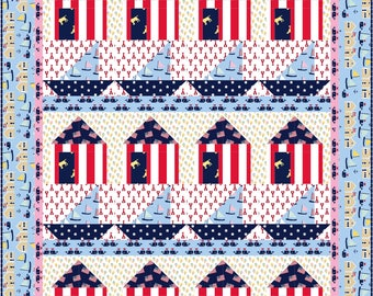 Whale Harbor Quilt ePattern, 5008-1e, lap quilt pattern, child's quilt, Oh Say Can You Sea