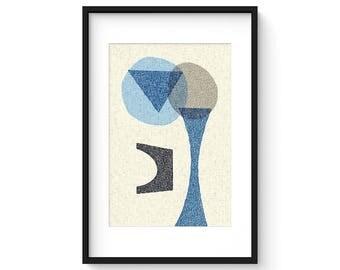 OFFSET no.13 - Giclee Print - Mid Century Modern Contemporary Modern Abstract Modernist Art