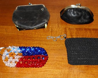 Vintage Coin Purses (4) - Change Purses - Small Coin Purses - Coin Pouches