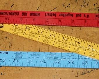 Vintage Ruler - Advertising Ruler - Ruler - Measurement Tool