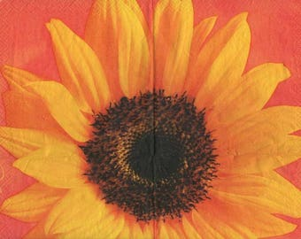 3247 - 1 napkin big sunflower flower