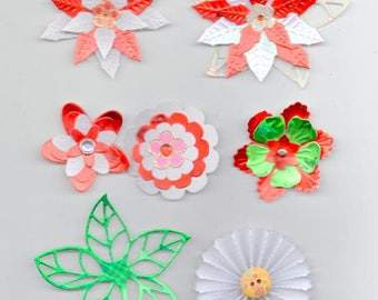 5 lot cutting 6 flowers and 1 large sheet for your embellishments