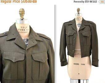SALE Vintage World War 2 WWII Jacket Wool United States Military Jacket Uniform Size Small Medium Marine Army Navy