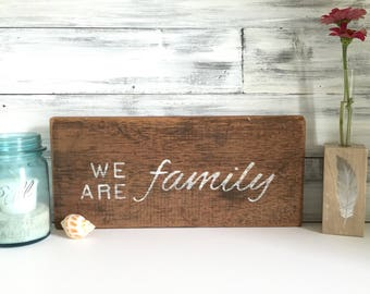 Wood Sign, rustic Family sign, farmhouse decor, country chic, reclaimed wood, One of a kind