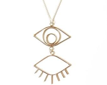 Silver Eyelashes Pendant