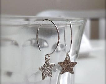 SALE Little Star Sterling Silver Earrings