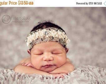 12% off Baby headband, newborn headband, adult headband, child headband and photography prop Penelope sprinkle headband
