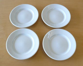 Apilco Yves Deshouliers White Porcelain Bread and Butter, Canape, Hors d'oeuvres, Cheese Plates Dishes Made in France