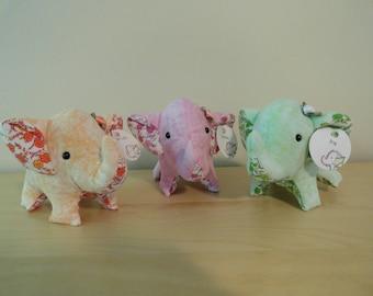 Tiny Stuffed Elephant Set- Garden Party Series II