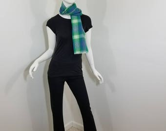 flannel green checkered scarf