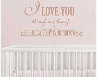 20% OFF I Love you-  Vinyl Lettering wall words decal graphics Home decor  bedroom nursery  room itswritteninvinyl