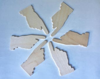 Pointing Finger Cutouts for Crafting