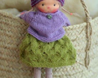 """Waldorf doll, Soft doll, Knitted doll Gwen 14"""", rag doll, handmade doll by Peperuda dolls"""