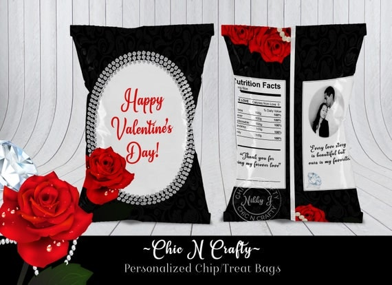 Valentines Day Personalized Chip Bagstreat Bagsfavor Bags