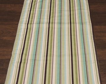 Reversible EXTRA LONG Green Blue Striped Clothing Protector - Shirt Saver - Special Needs - Dignity - hospital adult bib stripes 3 ply mens