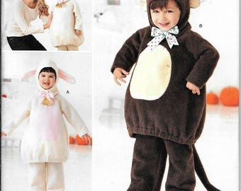 Simplicity 2068 Toddlers Fuzzy Felt Mouse/Lamb Costumes Sewing Pattern UNCUT Size 1/2, 1, 2, 3, 4