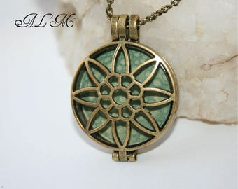 Pendant for photo - green background (p7)