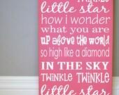 Twinkle Twinkle Little Star Wood Sign