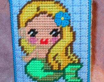 Mermaid 2 Tissue Box Cover Plastic Canvas Pattern