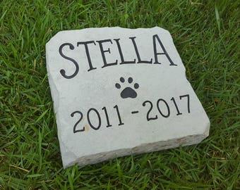 DOG MEMORIAL Stone - Personalized Garden Stone - Garden Stone - Carved Rock - Beloved Companion - Pet Memorial