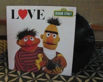 "Vintage 80's ""Love"" Children's Vinyl Record Album - 1980 - Sesame Street Record - Children's Television Network - 80's Children's Record"