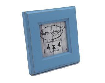 4x4 Moab picture frame - Baby Blue - Instagram, Home Decor, Wedding Favors, Wall Decor, Solid Wood, Handmade