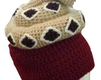 Rattlesnake Hat Crochet Pattern - Diamond-back Snake Hat Crochet Pattern (Adult Size)